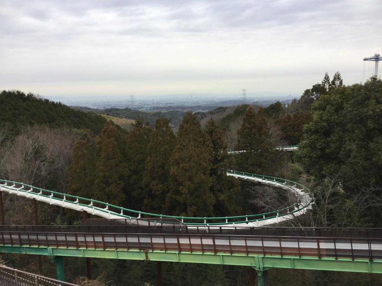 関西サイクルスポーツセンターから見た街