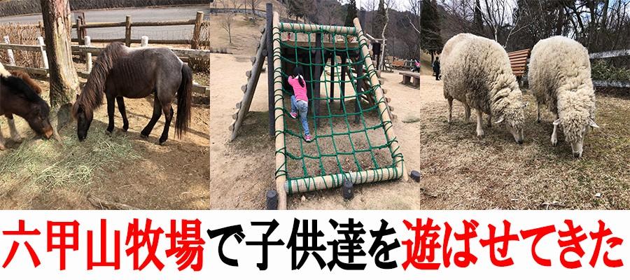 六甲山牧場で子供達を遊ばせてきた